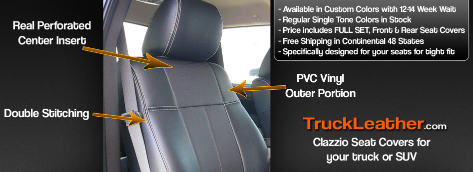 Clazzio Leather Insert Seat Covers